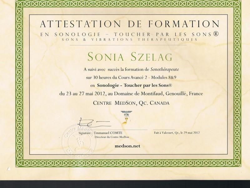 sonotherapeute certifié