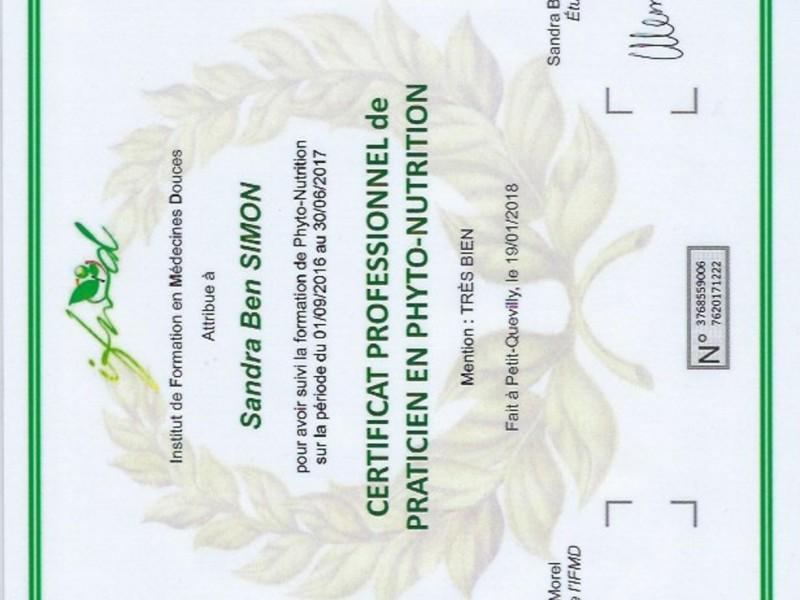 Certificat professionnel de praticien en phyto-nutrition