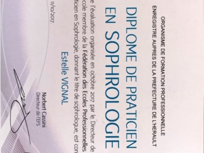 Diplome de Praticien en Sophrologie