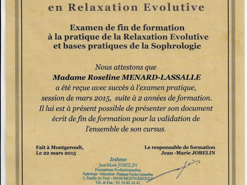 Certificat de Compétence en Relaxation Evolutve